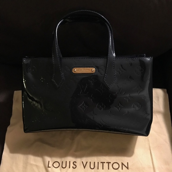 Louis Vuitton Handbags - Louis Vuitton Wilshire PM Mono Vernis Bleu Nuit